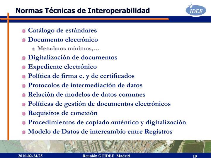 Normas Técnicas de Interoperabilidad