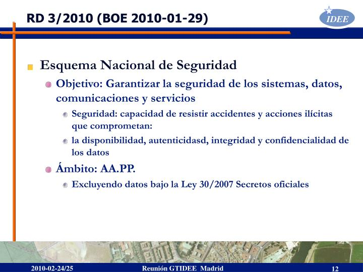 RD 3/2010 (BOE 2010-01-29)
