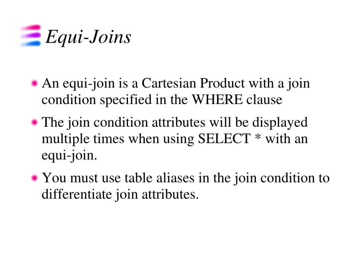 Equi-Joins