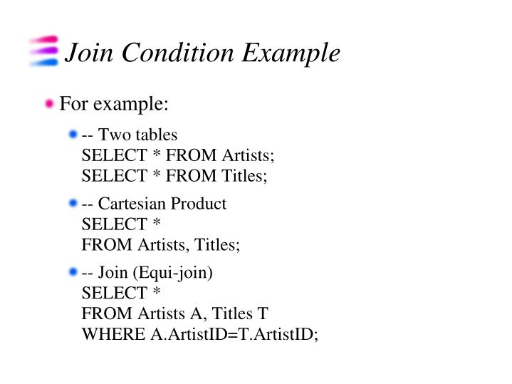 Join Condition Example