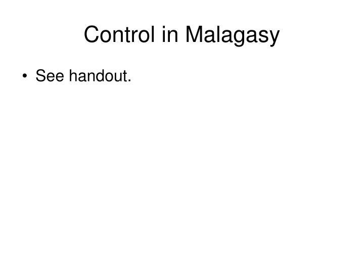 Control in Malagasy