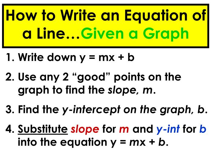 How to Write an Equation of a Line…