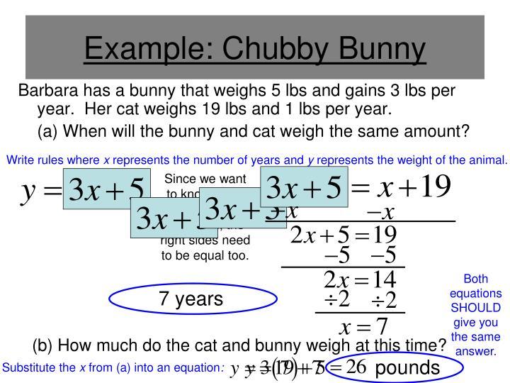 Example: Chubby Bunny