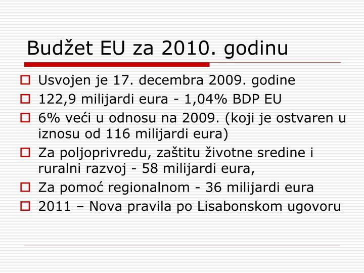Budžet EU za 2010. godinu