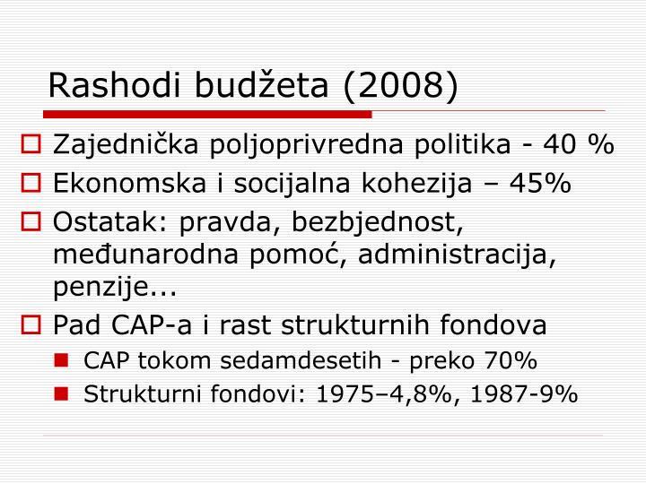 Rashodi budžeta (2008)