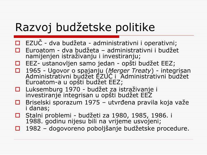 Razvoj budžetske politike