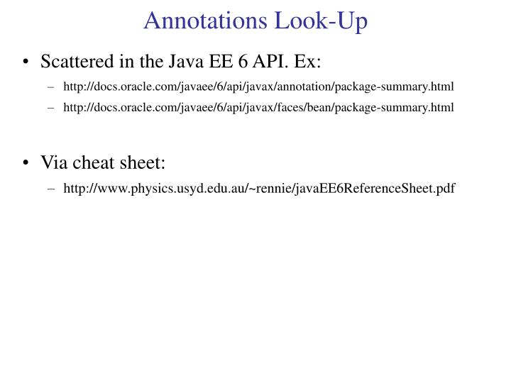 Annotations Look-Up