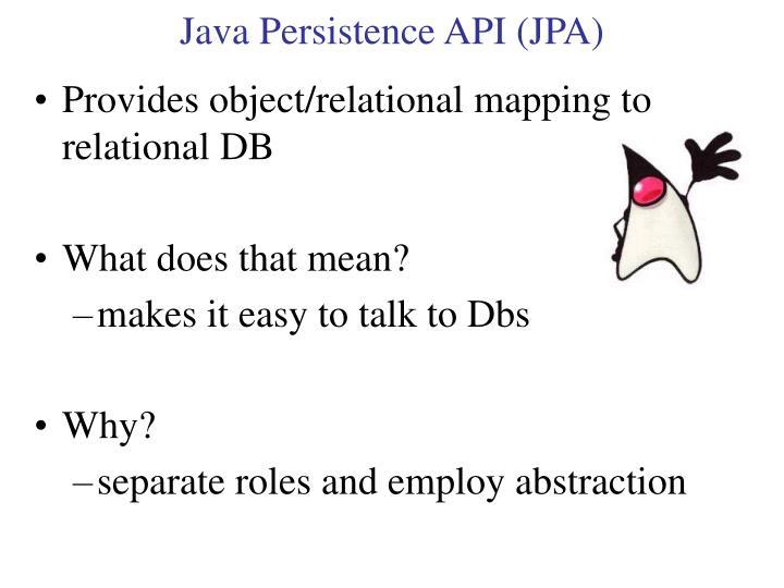 Java Persistence API (JPA)
