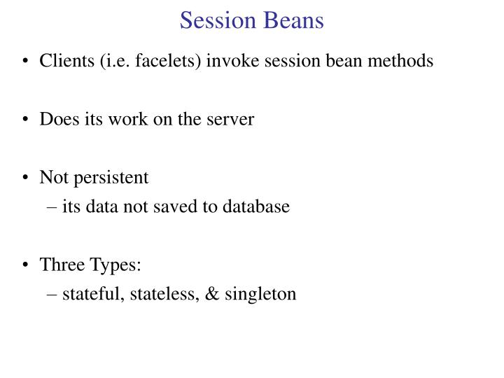 Session Beans