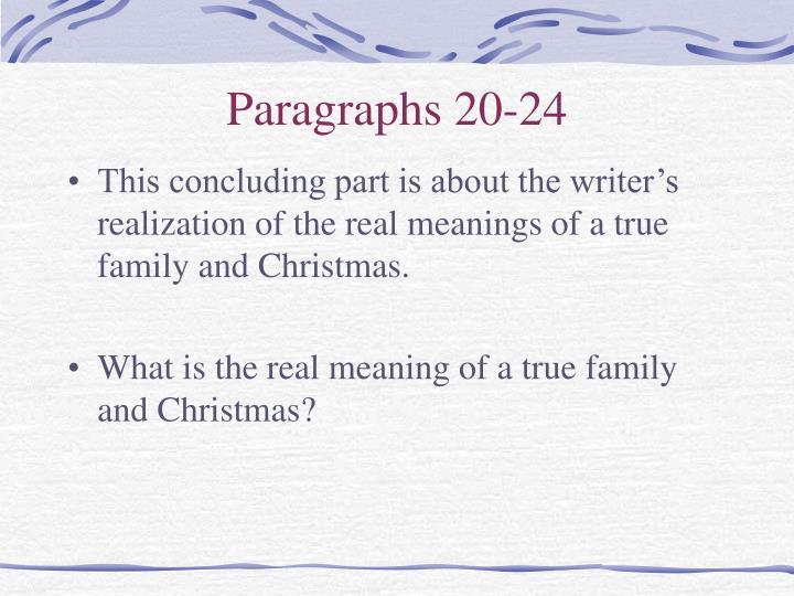 Paragraphs 20-24
