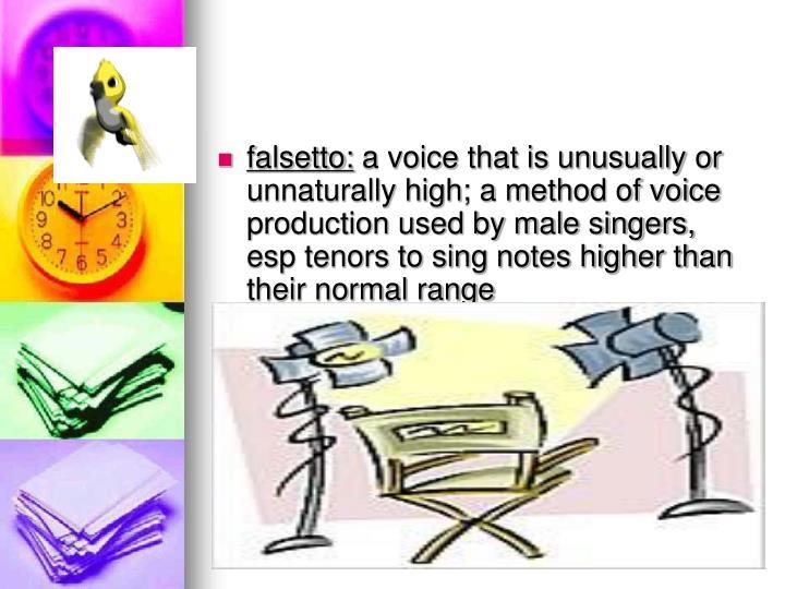 falsetto: