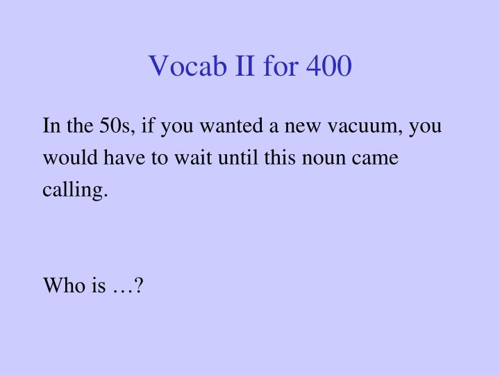 Vocab