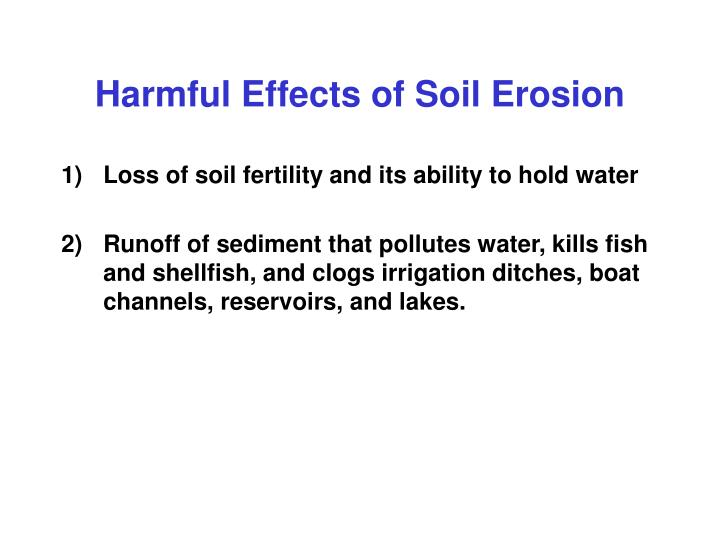 Harmful Effects of Soil Erosion