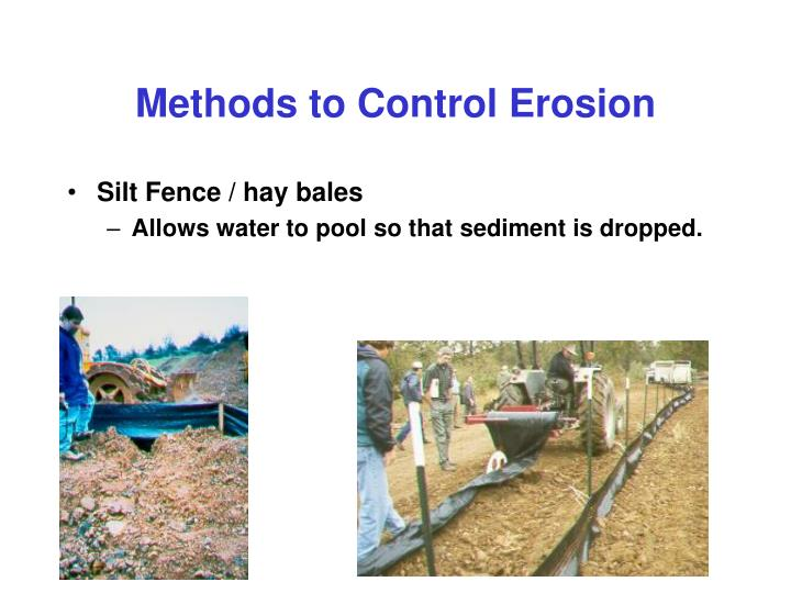 Methods to Control Erosion