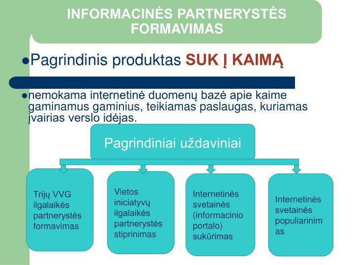 INFORMACINĖS PARTNERYSTĖS FORMAVIMAS