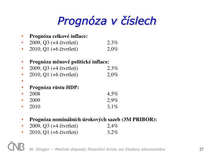 Prognóza v číslech