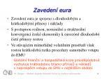 zaveden eura