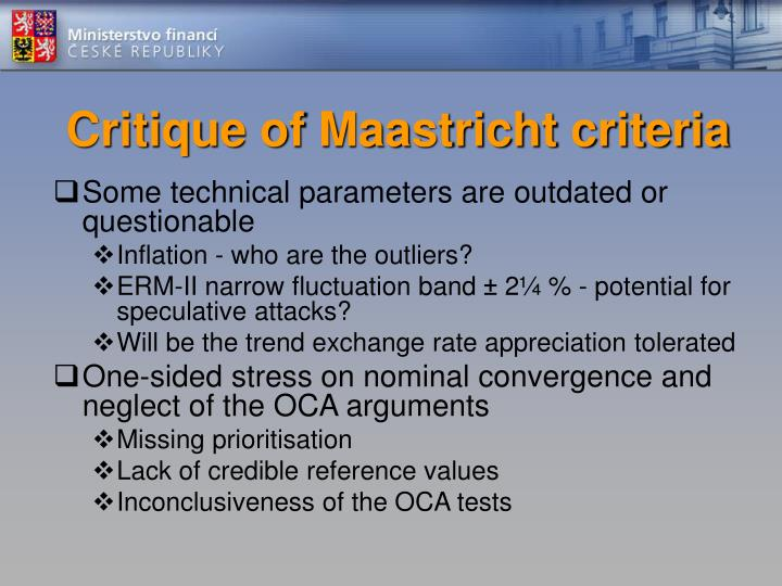 Critique of Maastricht criteria