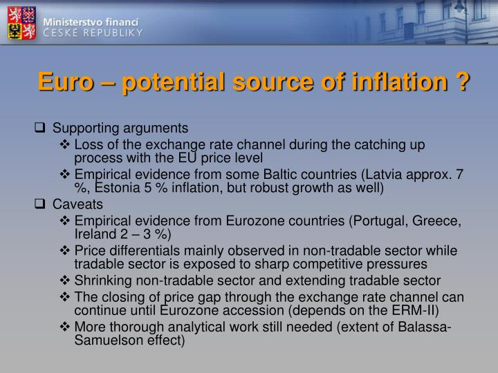 Euro – potential source of inflation ?