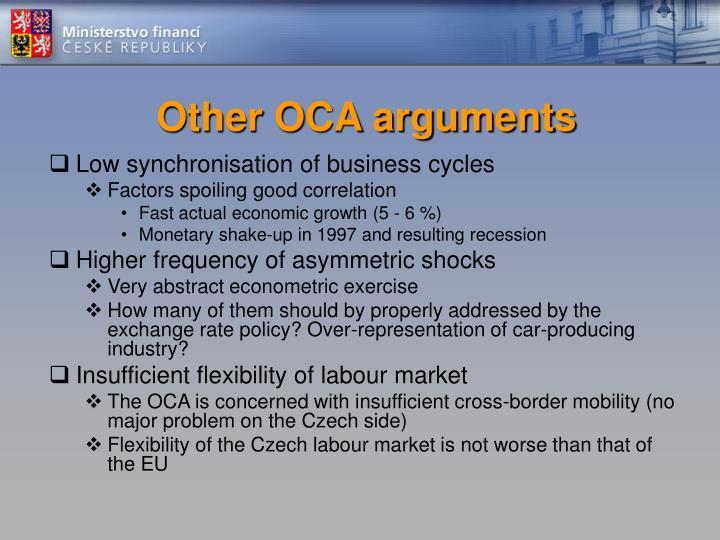 Other OCA arguments