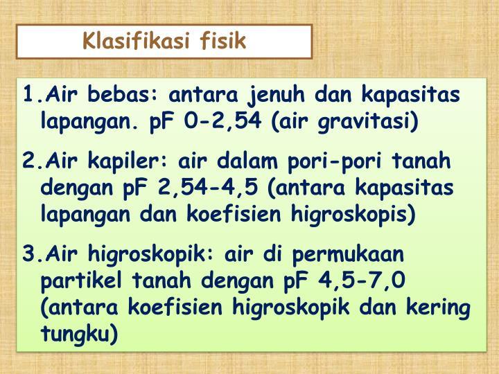 Klasifikasi fisik