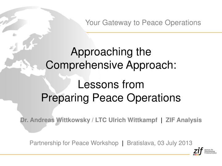 Your Gateway to Peace Operations