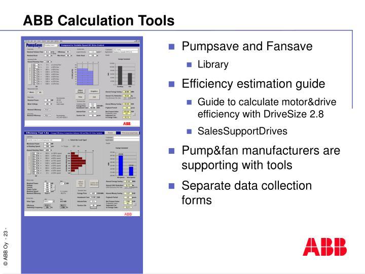 ABB Calculation Tools