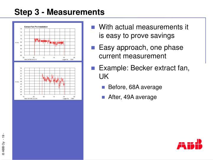 Step 3 - Measurements