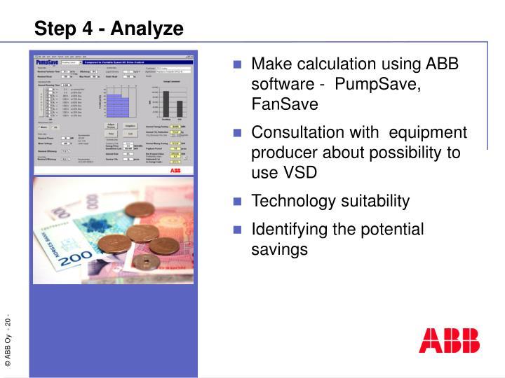 Step 4 - Analyze