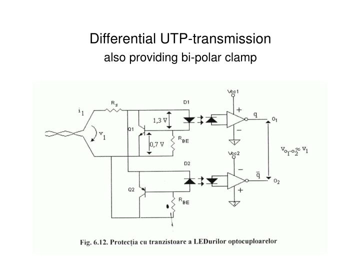 Differential UTP-transmission