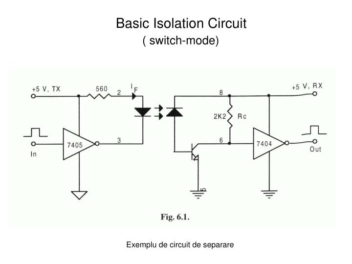 Exemplu de circuit de separare