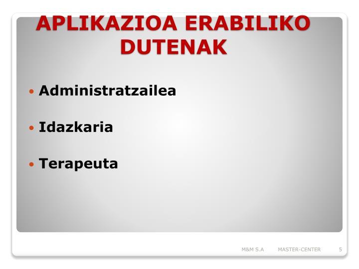 Administratzailea