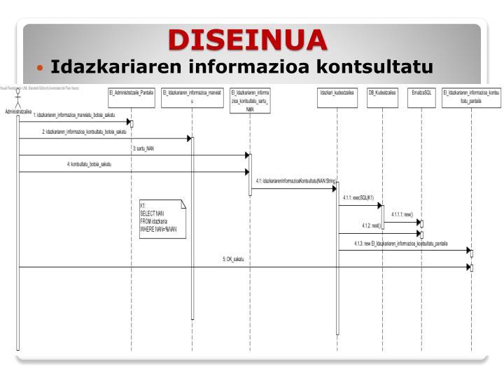 Idazkariaren informazioa kontsultatu