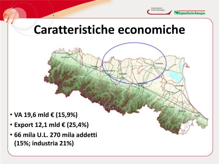 Caratteristiche economiche dell'area