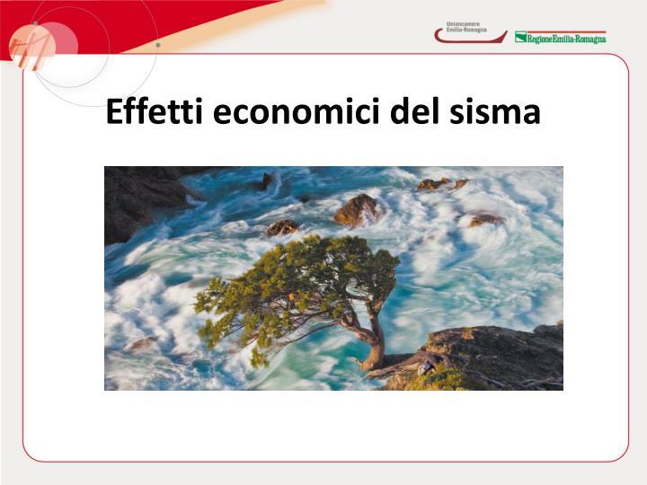 Effetti economici del sisma