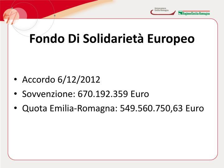 Fondo Di Solidarietà Europeo