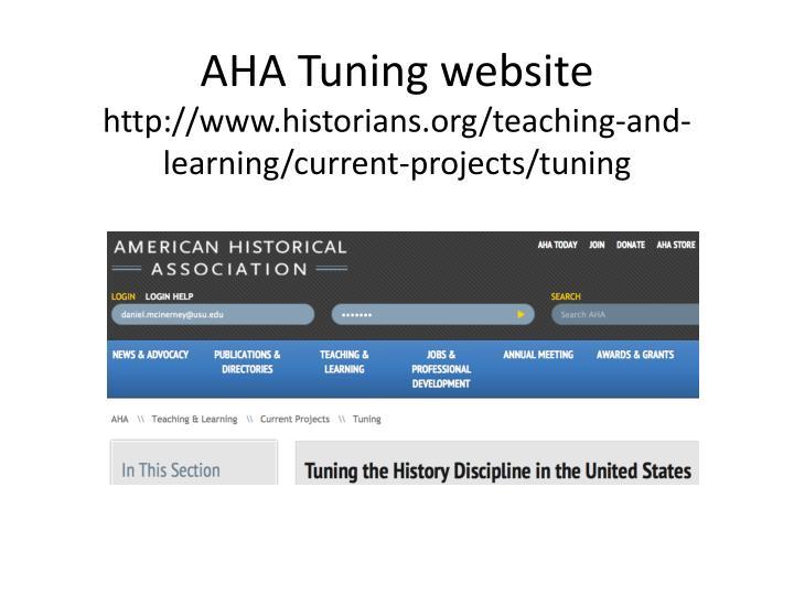 AHA Tuning website