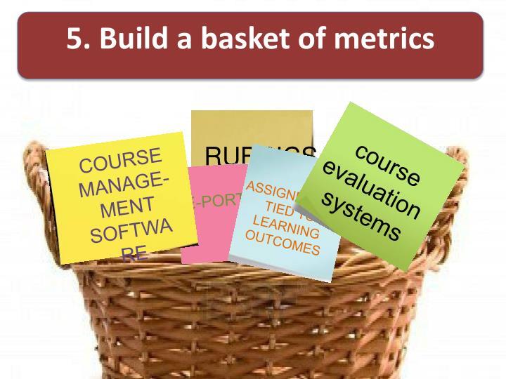 5. Build a basket of metrics