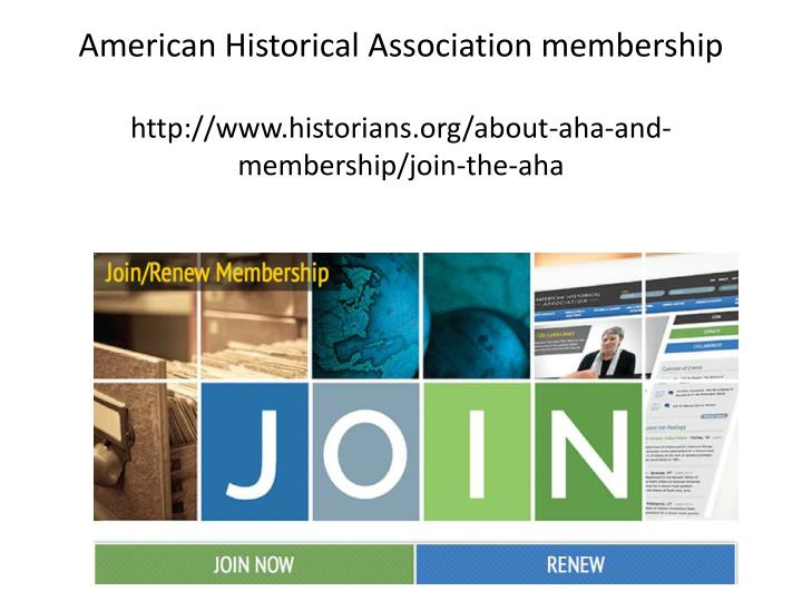 American Historical Association membership