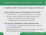 expressiveness evaluation results