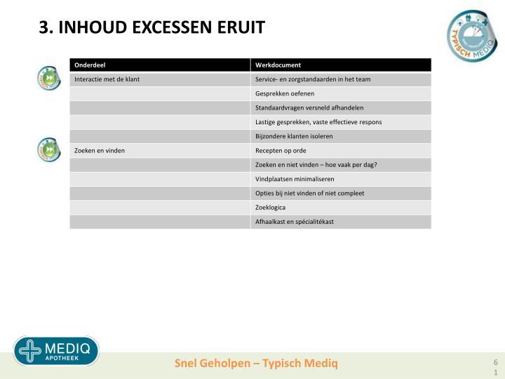 3. INHOUD EXCESSEN ERUIT