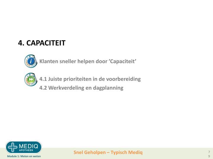 4. CAPACITEIT