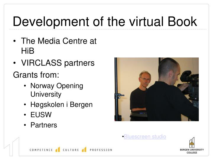 Development of the virtual Book