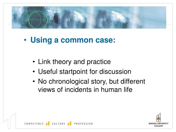 Using a common case: