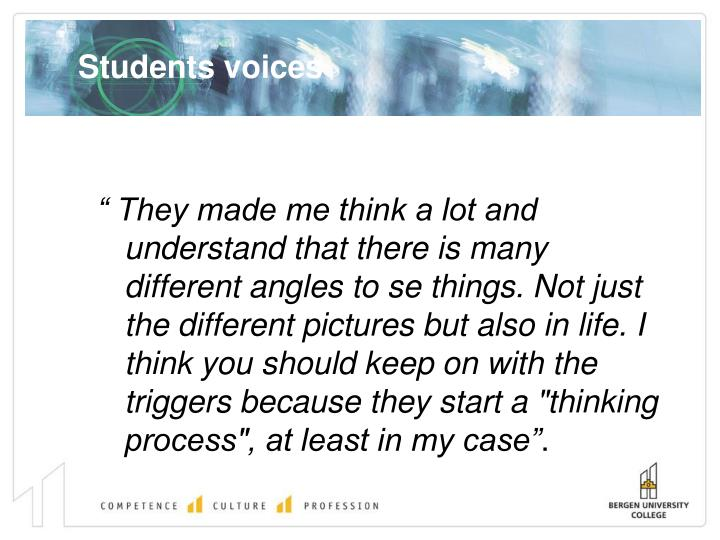 Students voices