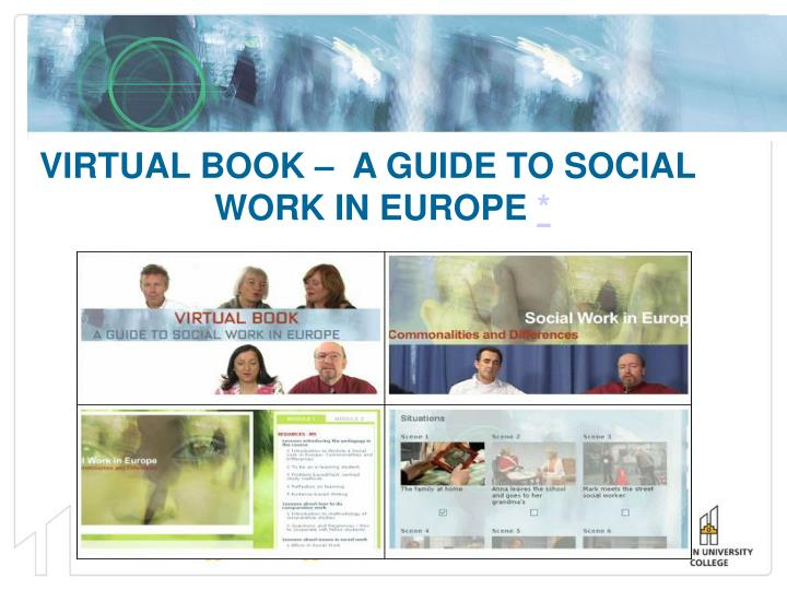 VIRTUAL BOOK –  A GUIDE TO SOCIAL WORK IN EUROPE