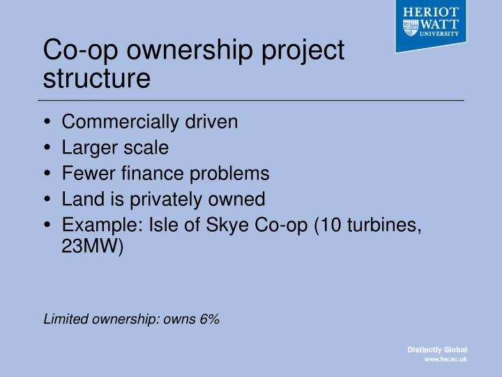 Co-op ownership project structure