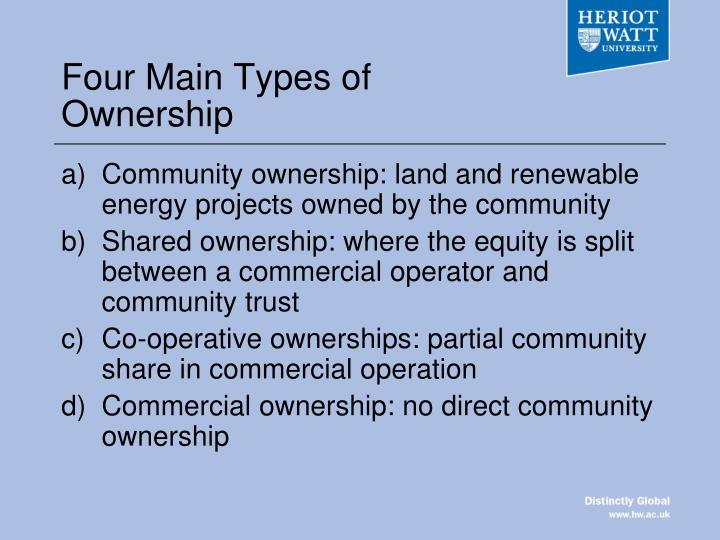 Four Main Types of Ownership