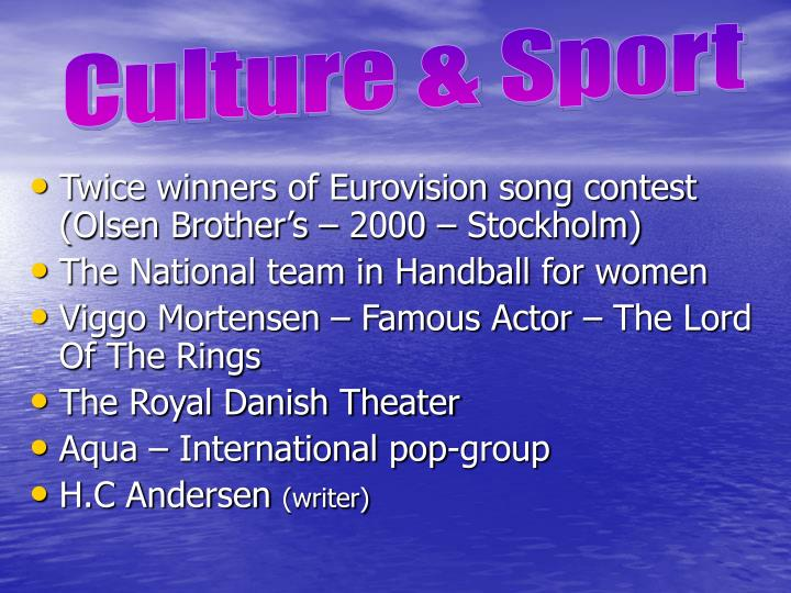 Culture & Sport