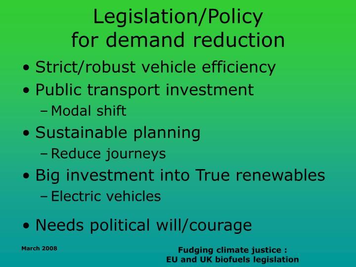 Legislation/Policy